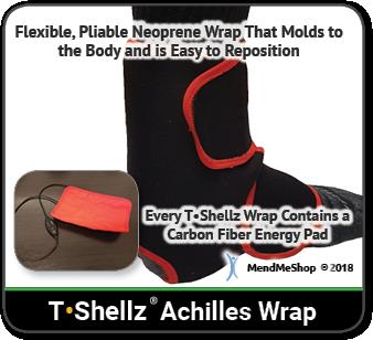 MendMeShop Achilles Inferno Wrap speeds the healing and elasticity of Achilles tendon collagen fibres.