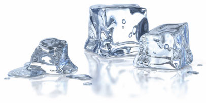 Ice is freezing cold when it hits your skin, this is too cold for effective cold compression therapy.