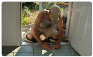Kneeling during work everyday, like tiling or scrubbing floors, puts excess pressure on the knee tendons and bursa which can cause repetitive stress injuries.