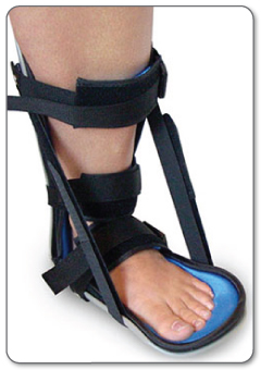 You may need to wear a removable splint for some time after surgery to restrict movement of your Achilles tendon as it heals.